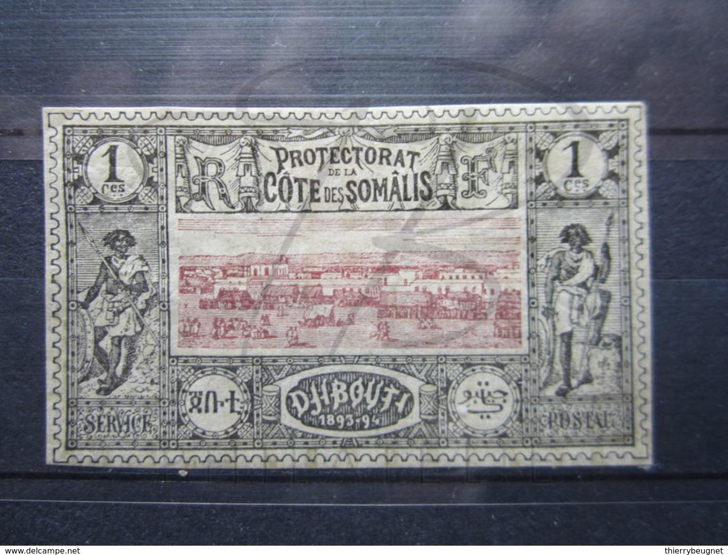 VEND BEAU TIMBRE DE LA COTE FRANCAISE DES SOMALIS N° 6 , X !!! - Côte Française Des Somalis (1894-1967)