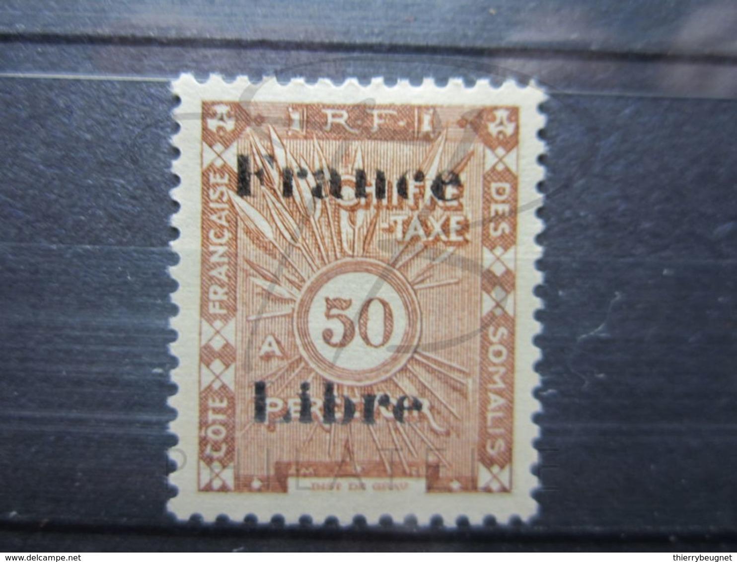 VEND BEAU TIMBRE TAXE DE LA COTE FRANCAISE DES SOMALIS N° 34 , X !!! - Côte Française Des Somalis (1894-1967)