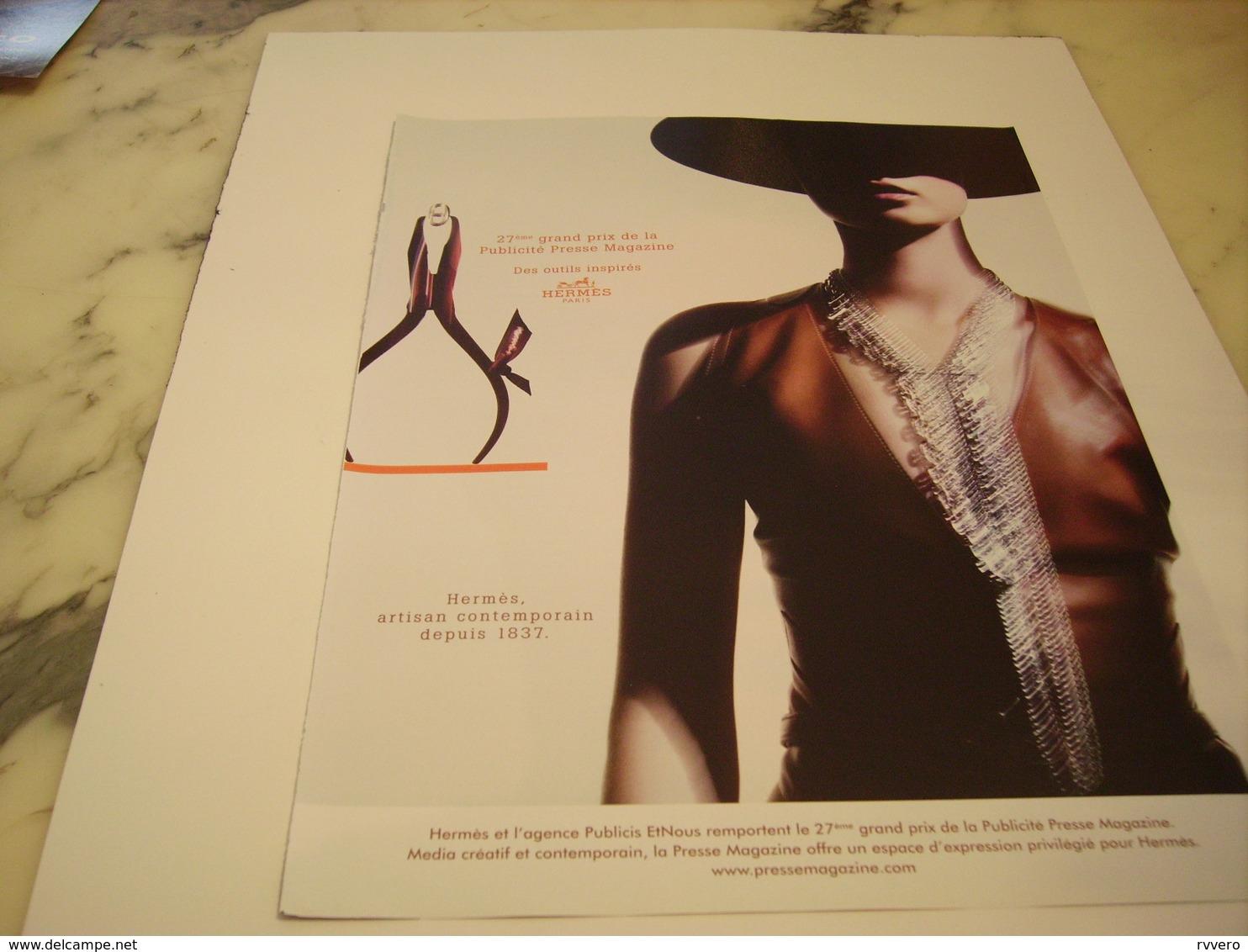 PUBLICITE AFFICHE BIJOU HERMES - Bijoux & Horlogerie