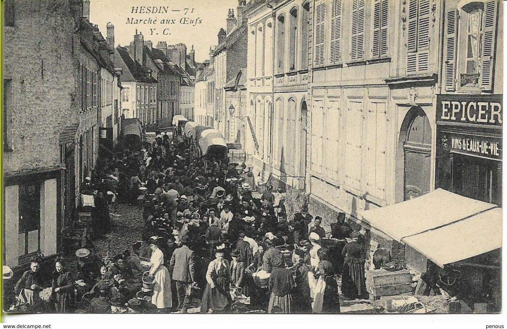 HESDIN   Marché Aux Oeufs - Hesdin