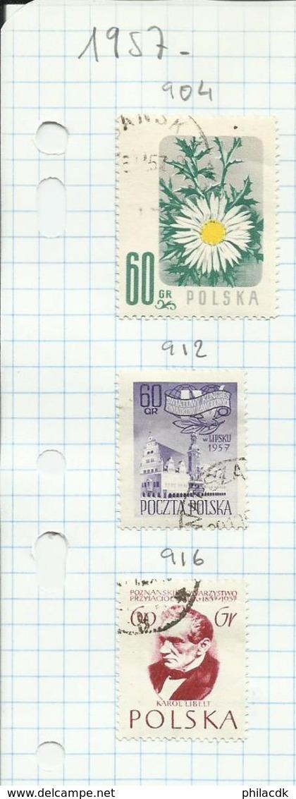 POLOGNE - 52 SCANNS - BELLE COLLECTION DE 346 TIMBRES NEUFS (*) SANS GOMME ET OBLITERES POUR ETUDE - Poland