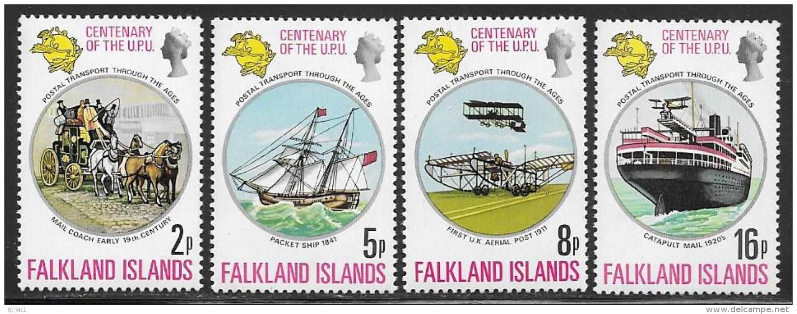Falkland Islands, Scott # 231-4 MNH UPU Centenary, 1974 - Falkland Islands