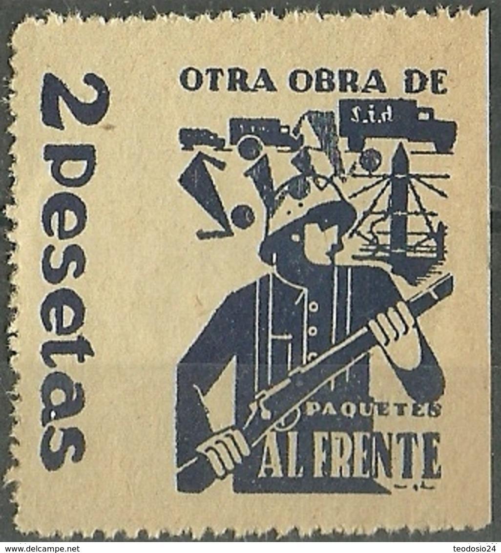 Paquetes Al Frente.  SIA . GG 1629 ** Mnh SOLIDARIDAD INTERNACIONAL ANTIFASCISTA. - Viñetas De La Guerra Civil