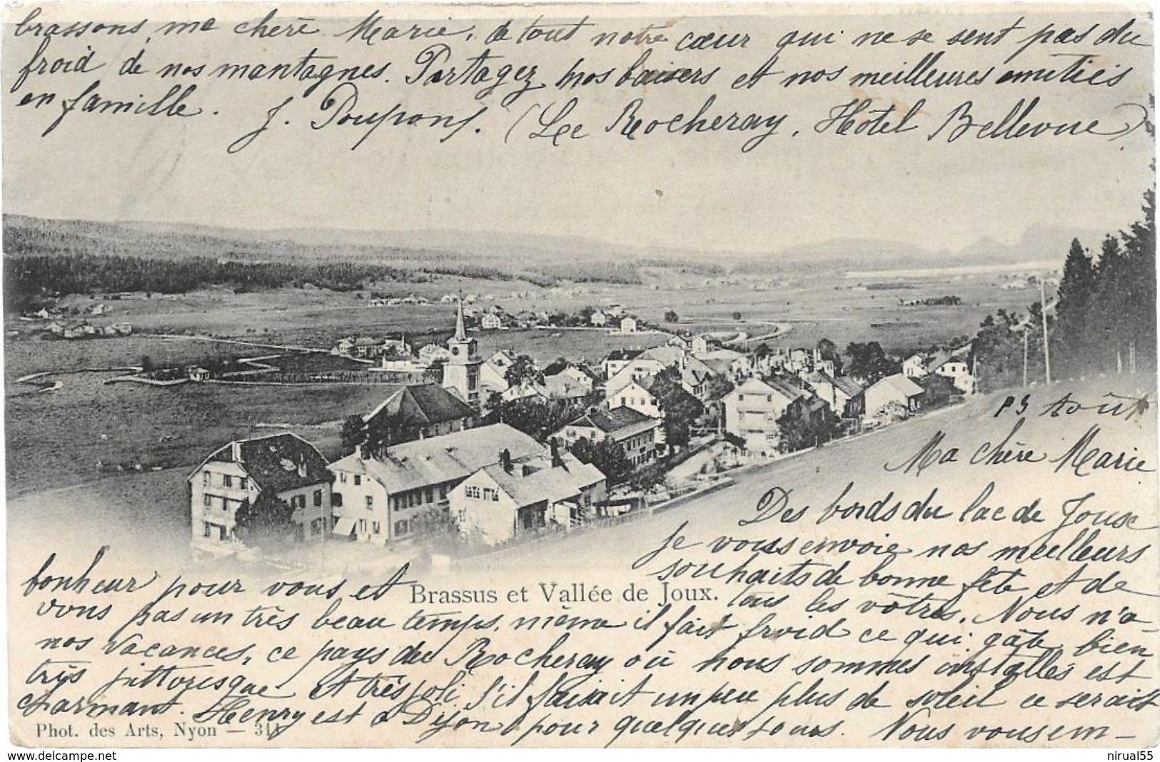 Suisse VD BRASSUS Et Vallée De Joux .........G - VD Vaud
