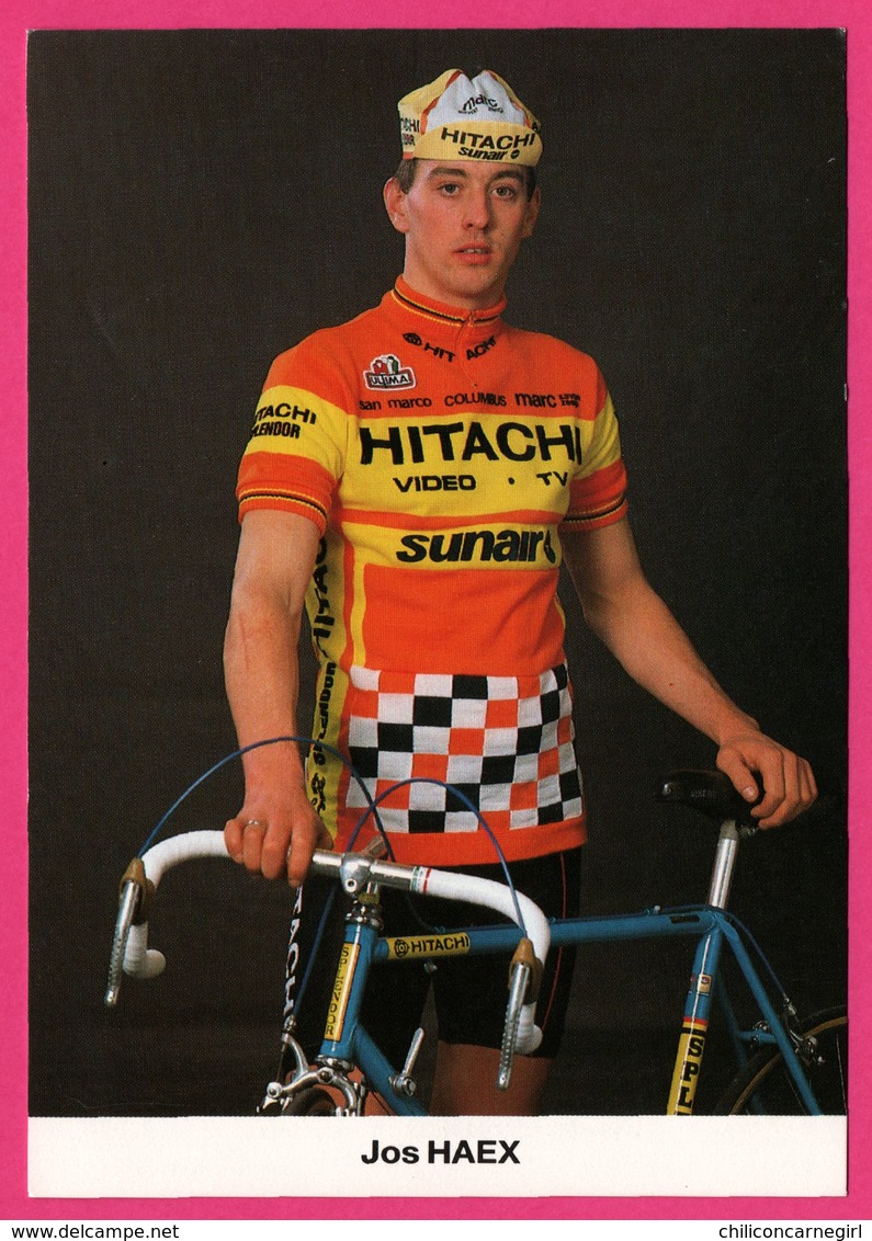 Cycliste - Cyclisme - JOS HAEX - Hitachi - Sunair - Sponsor - Pub - Cycling