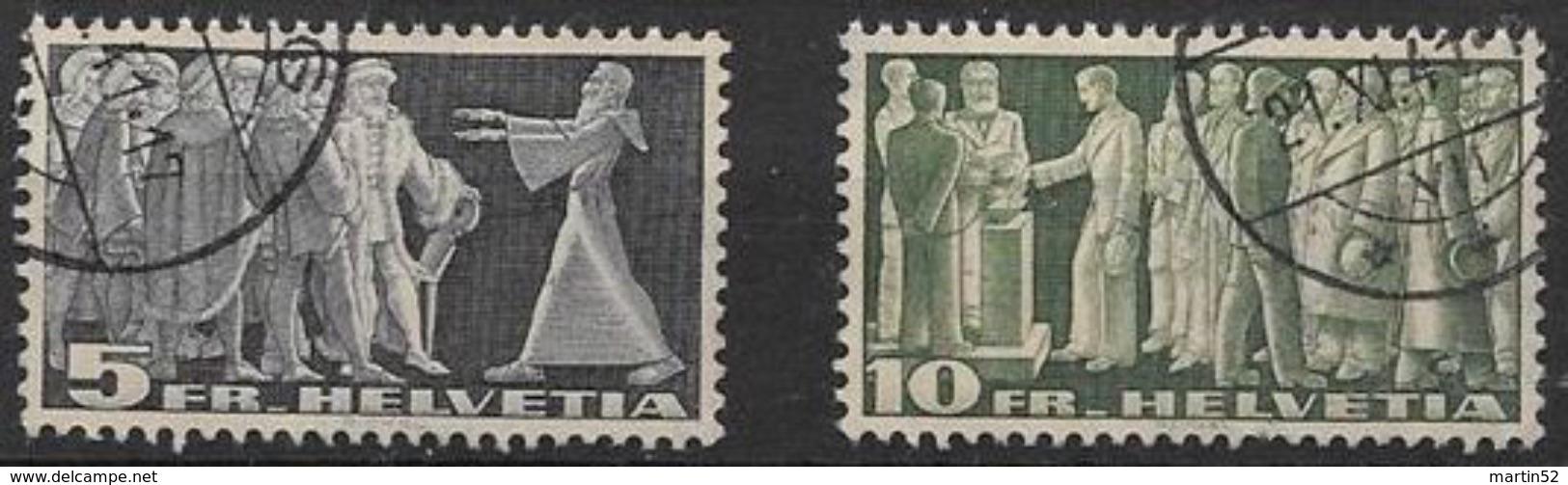 """Symbolische Bilder 1938:""""lichtempfindlich-sensible"""" Zu 217-218v Mi 329-330v Yv C314-315 Mit O  (Zu CHF 87.00) ZAHN-DENT - Oblitérés"""