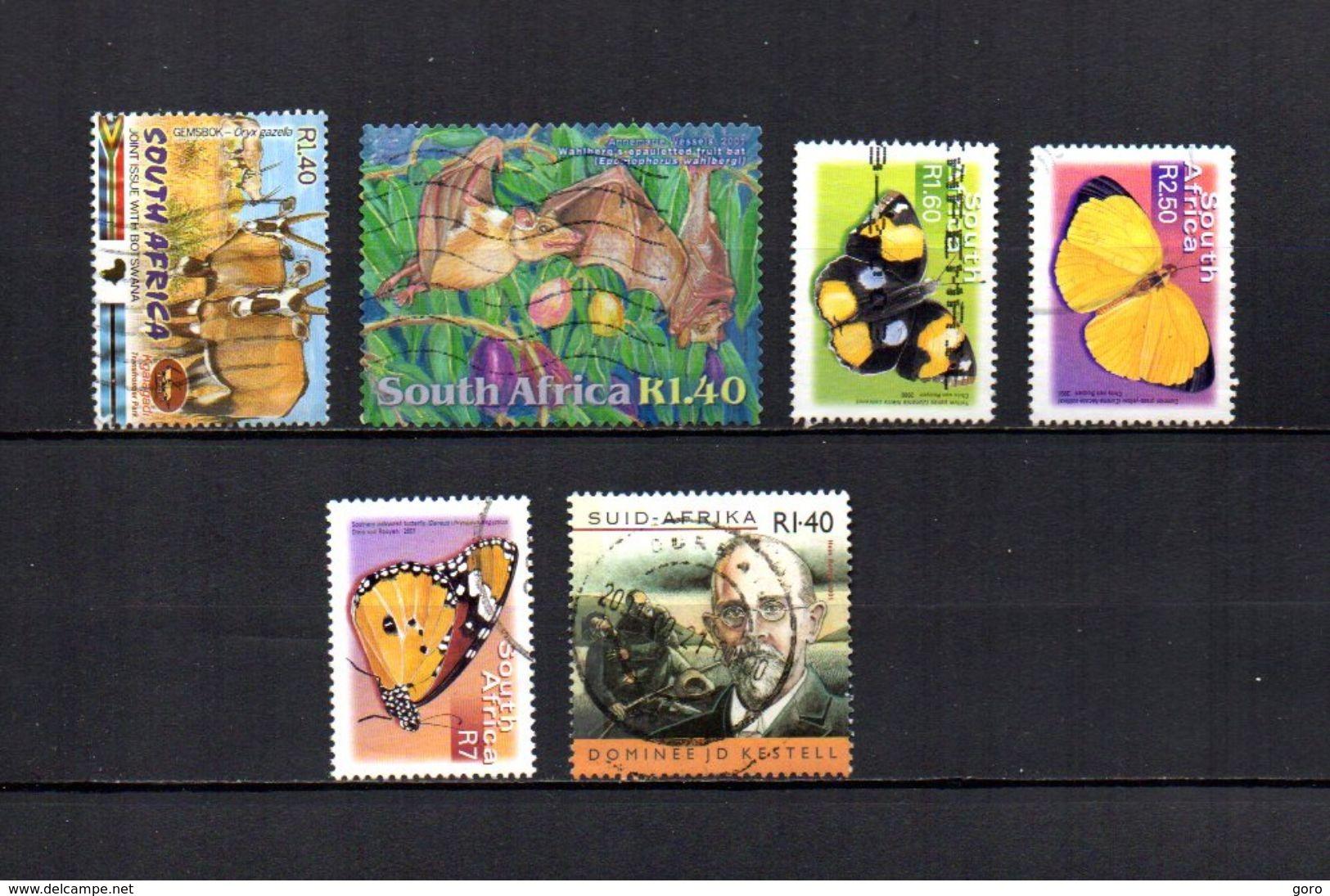 Africa Del Sur  2001  .-   Y&T  Nº   1145-1152-1169-1172/1173-1175 - África Del Sur (1961-...)