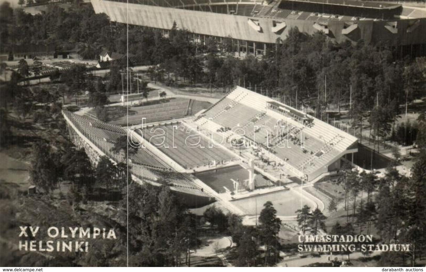 T2 1952 Helsinki, Hellsingfors; Uimastadion, XV Olympia / Swimming Stadium, Summer Olympics, So. Stpl - Cartes Postales