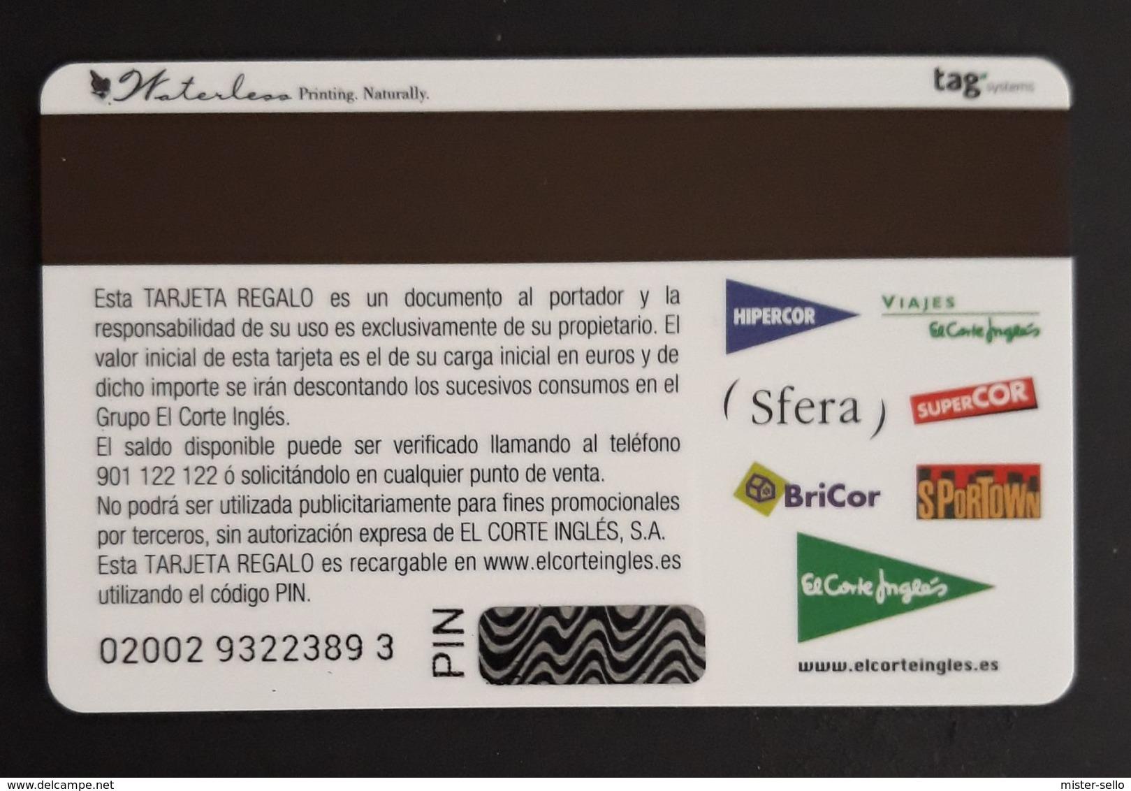 ESPAÑA TARJETA REGALO EL CORTE INGLÉS. - Tarjetas De Regalo