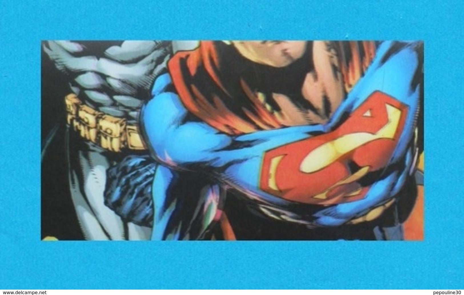 ** DC COMICS ** SUPERMAN / BATMAN ** POSTER RELIEF * 3D * IMAGE ANAGLYPHES ** 47cm X 67cm . (™ & © DC COMICS. (s12)) - Affiches & Posters