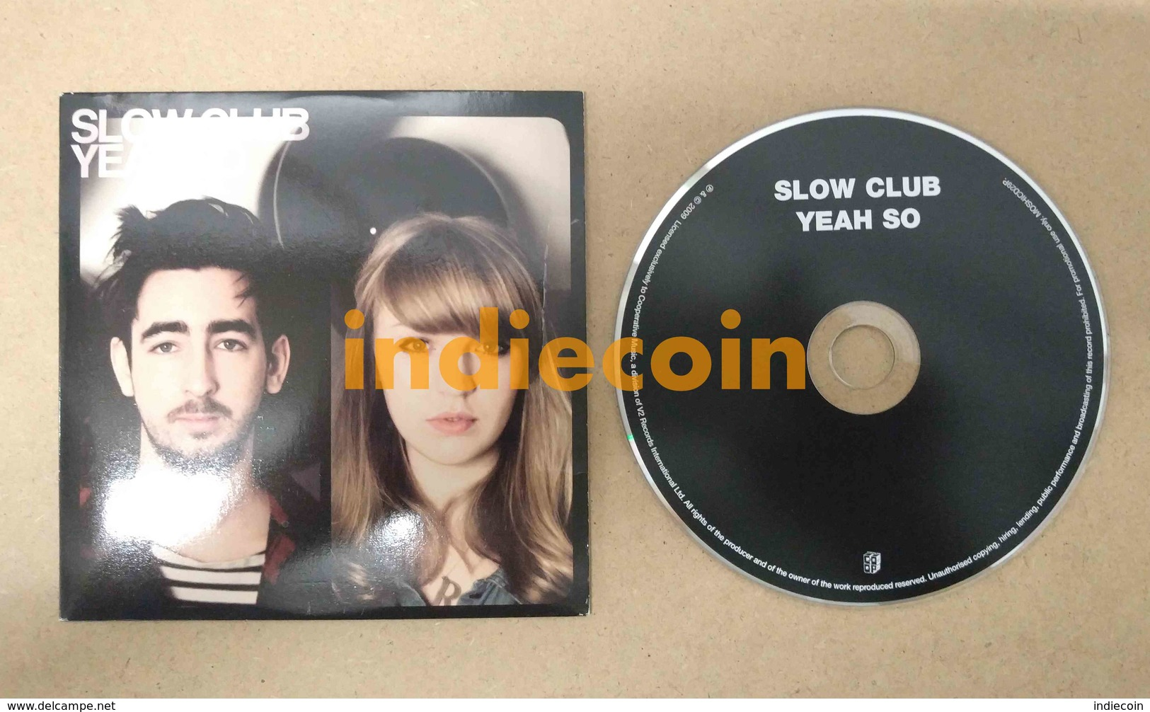 SLOW CLUB Yeah So 2009 UK CD LP Promo Cardsleeve - Music & Instruments