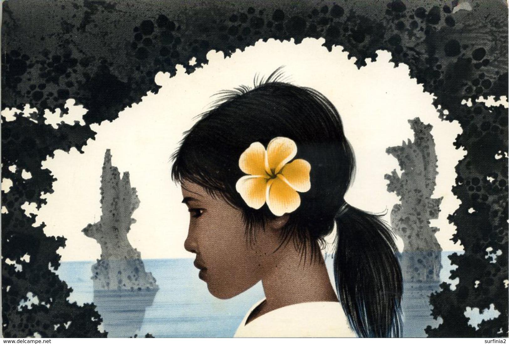 NAURU - HEAD OF A NAURUAN GIRL  P87 - Nauru
