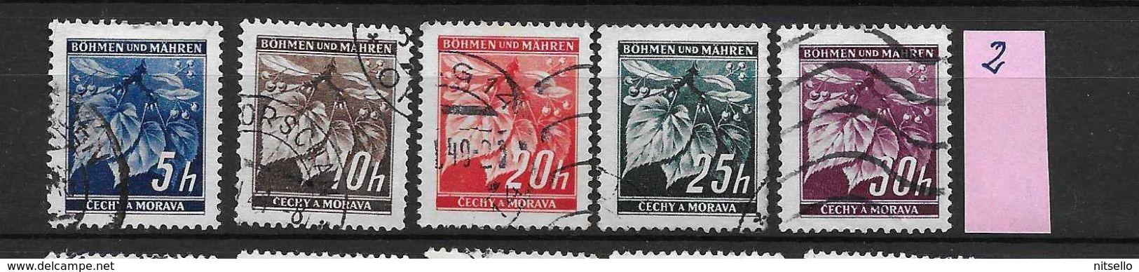 LOTE 1659  /// BOHEMIA & MORAVIA    YVERT Nº: 20/24 - Usados
