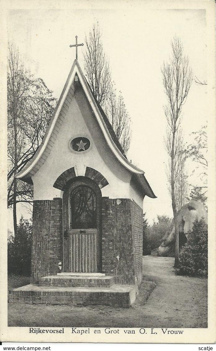 Rijkevorsel    Kapel En Grot Van O.L.Vrouw - Rijkevorsel