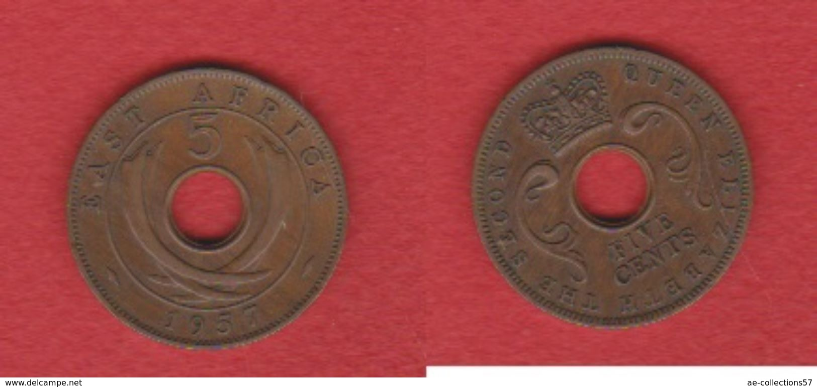 East Africa / KM 37 /  5 Cents 1957 / TTB - British Colony