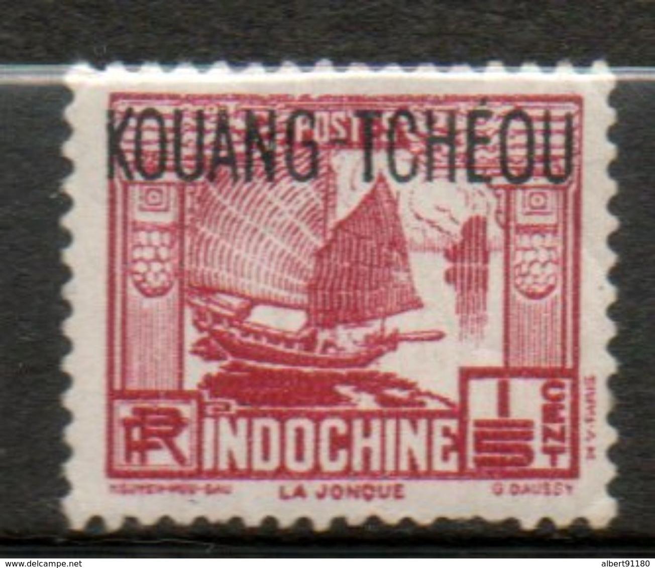 KOUANG- TCHEOU 1/5c Brun Carmine 1937 N° 98 - Kouang-Tcheou (1906-1945)