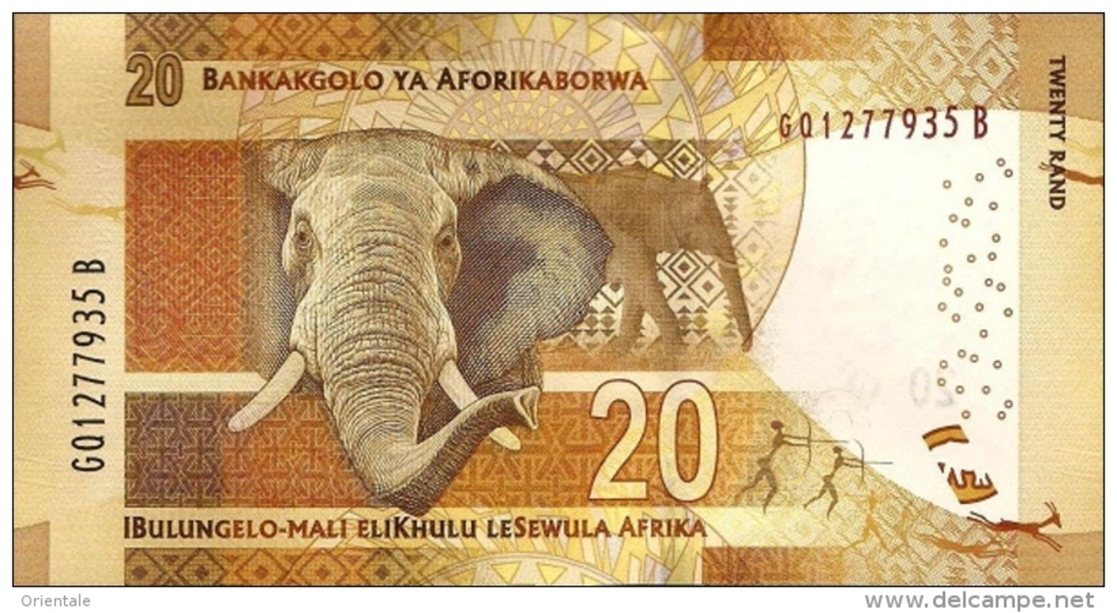 SOUTH AFRICA P. 139 20 R 2016 UNC - Zuid-Afrika