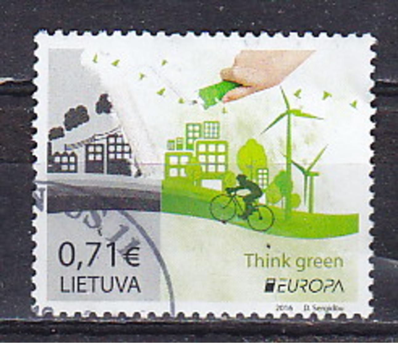 Lituanie - Litauwen Nr Timbre De 2016    A      Obliteré - Gestempeld - Used    (O) - Lithuania