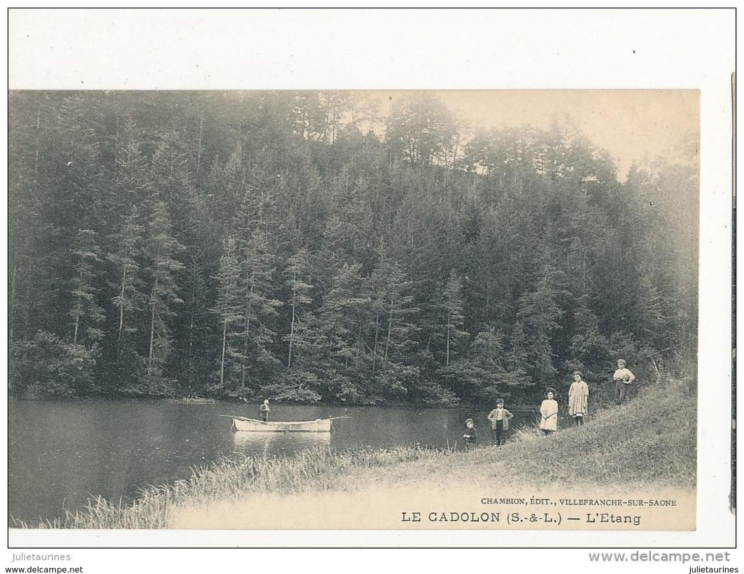 Le Cadolon L étang Cpa Bon état - Non Classés