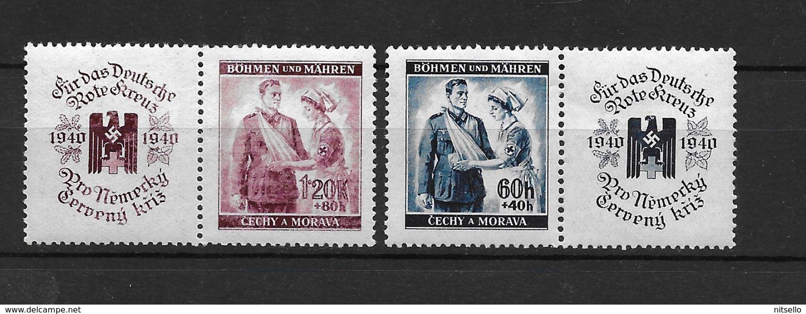 LOTE 1661  ///  BOHEMIA Y MORAVIA   YVERT Nº: 39/40 - Bohemia & Moravia
