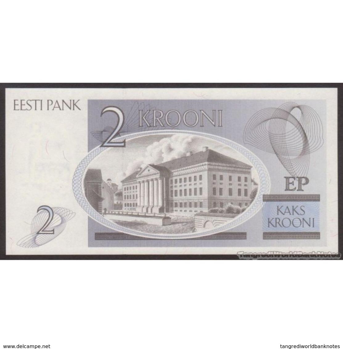 TWN - ESTONIA 70a - 2 Krooni 1992 Prefix AE UNC - Estonia