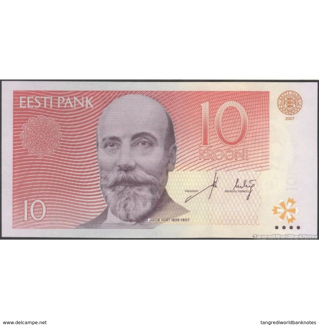 TWN - ESTONIA 86b - 10 Krooni 2007 Prefix CZ UNC - Estonia