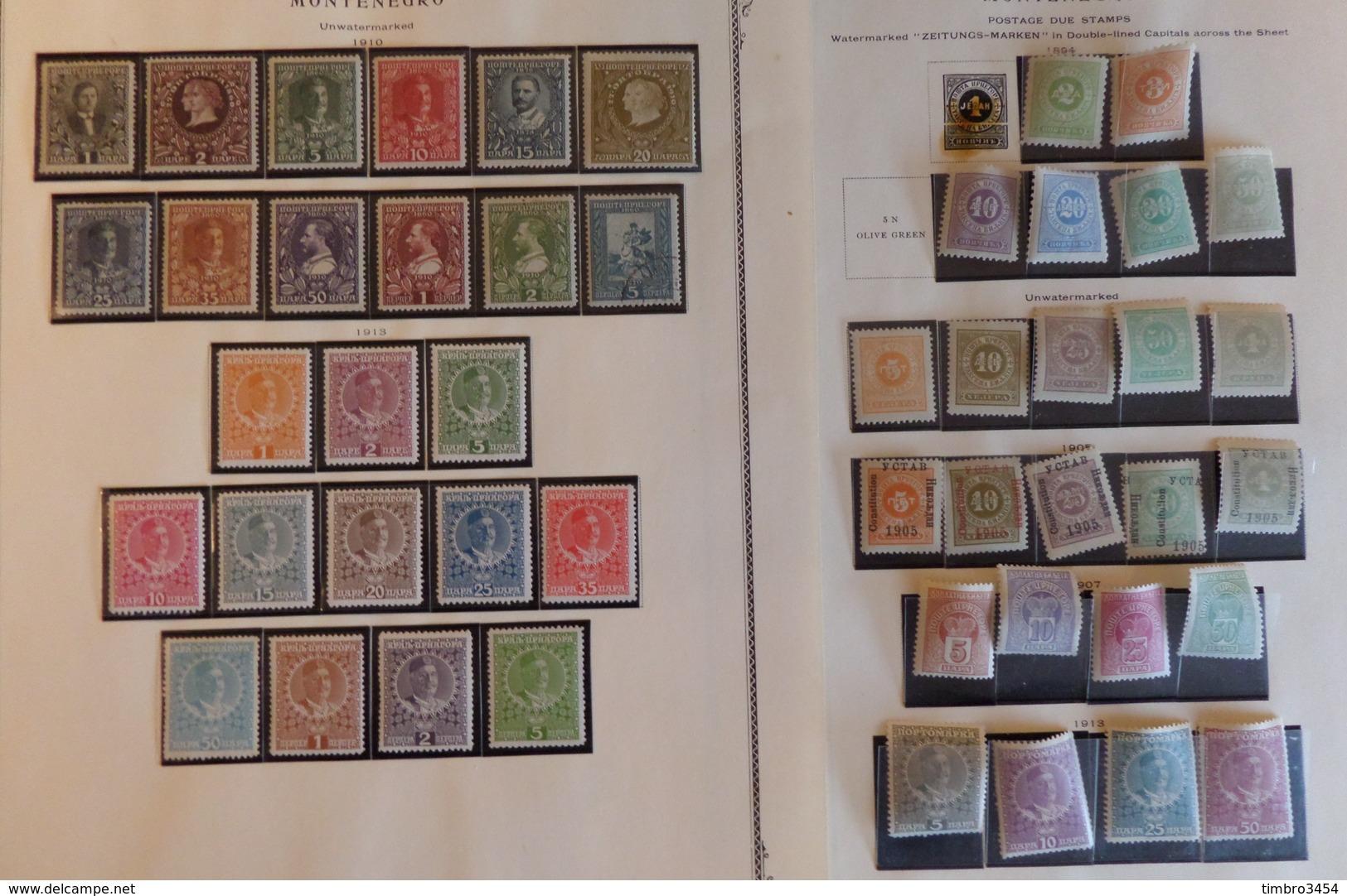 Montenegro Belle Collection D'anciens 1874/1913. Bonnes Valeurs Et Forte Cote. B/TB. A Saisir! - Montenegro
