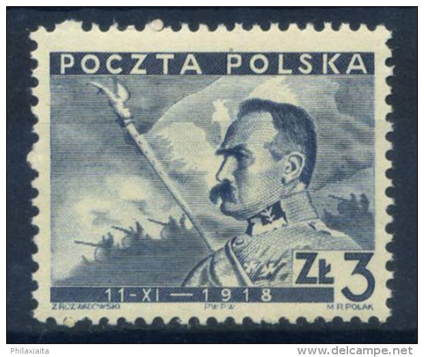 Polonia 1938 Mi. 343 Nuovo ** 100% 3 Zt - 1919-1939 Republic