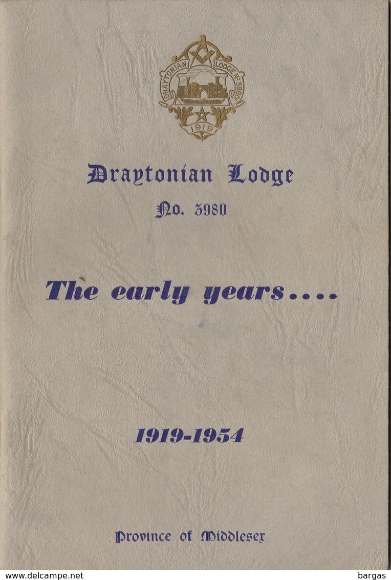 Franc Maçon Maçonnique Loge Draytonian Lodge Drayton Angleterre England Masonic - Programmes