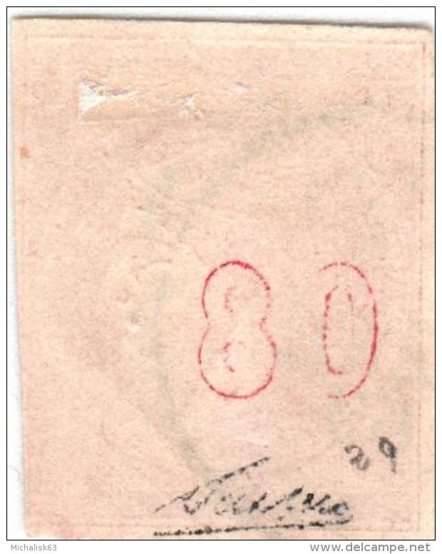 1A 758 Greece Large Hermes Head  1862-1867 80 Lepta  Hellas 22a Rose-carmine - Oblitérés