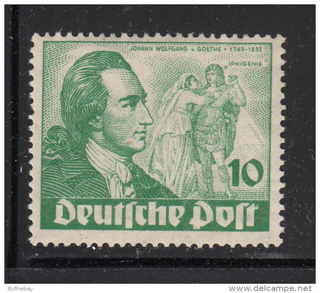 Germany  Berlin 1949 MNH Scott #9N61 10pf Goethe, 'Iphigenie' - Neufs
