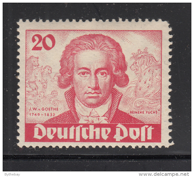 Germany  Berlin 1949 MNH Scott #9N62 20pf Goethe, 'Reineke Fuchs' - [5] Berlin
