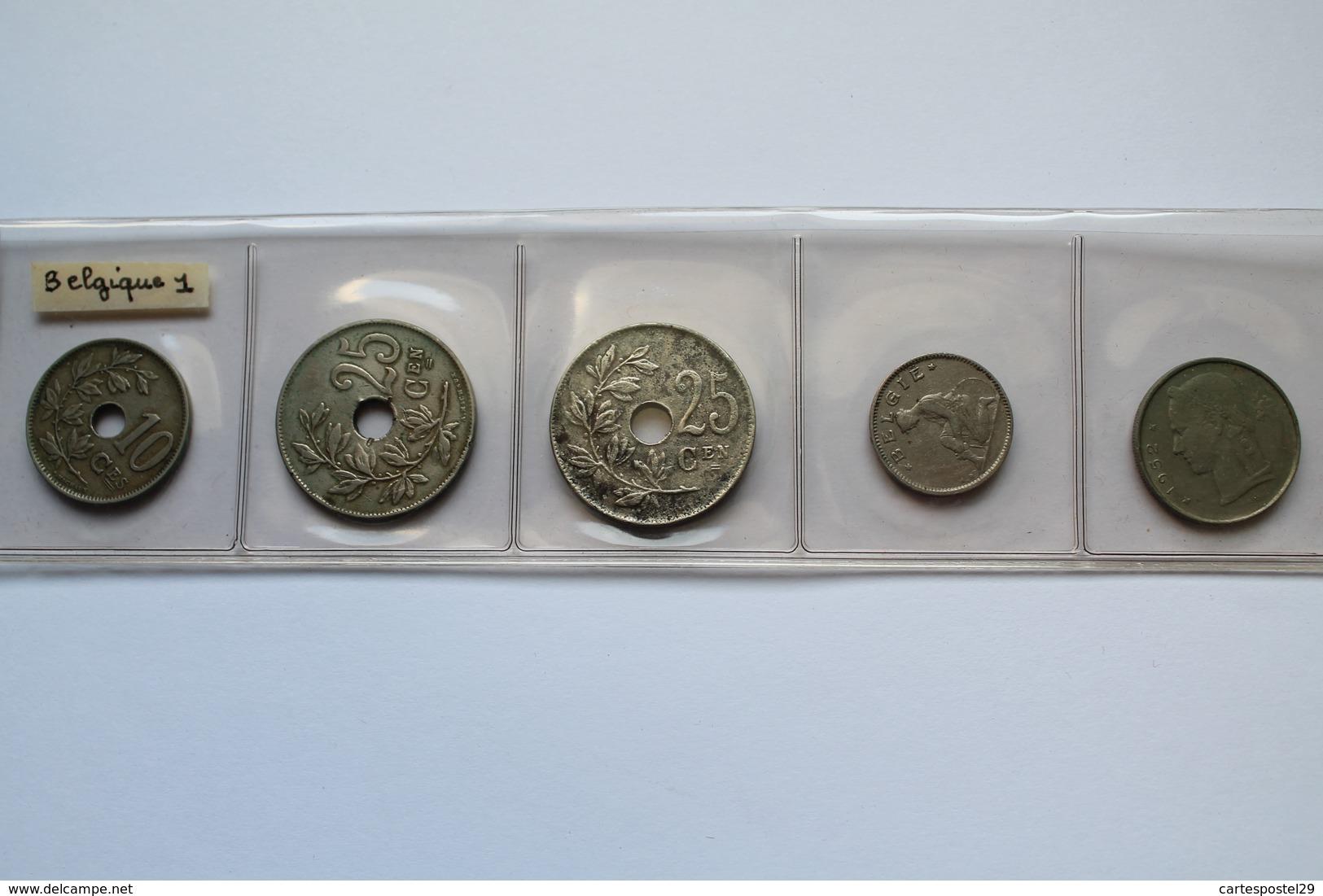 LOT DE 5 PIECES BELGIQUE - Collections