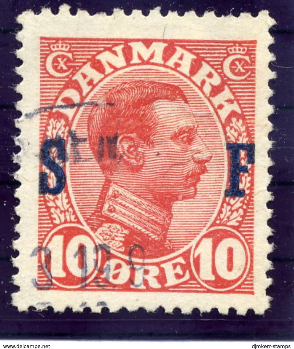 DENMARK 1917 Military Post Overprint On 10 Øre, Used. Michel  2 - 1913-47 (Christian X)