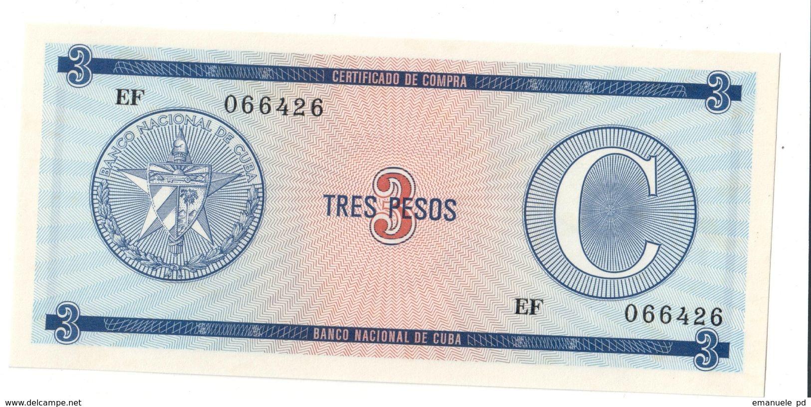 KUBA FX 3 Pesos Serie C UNC - Cuba