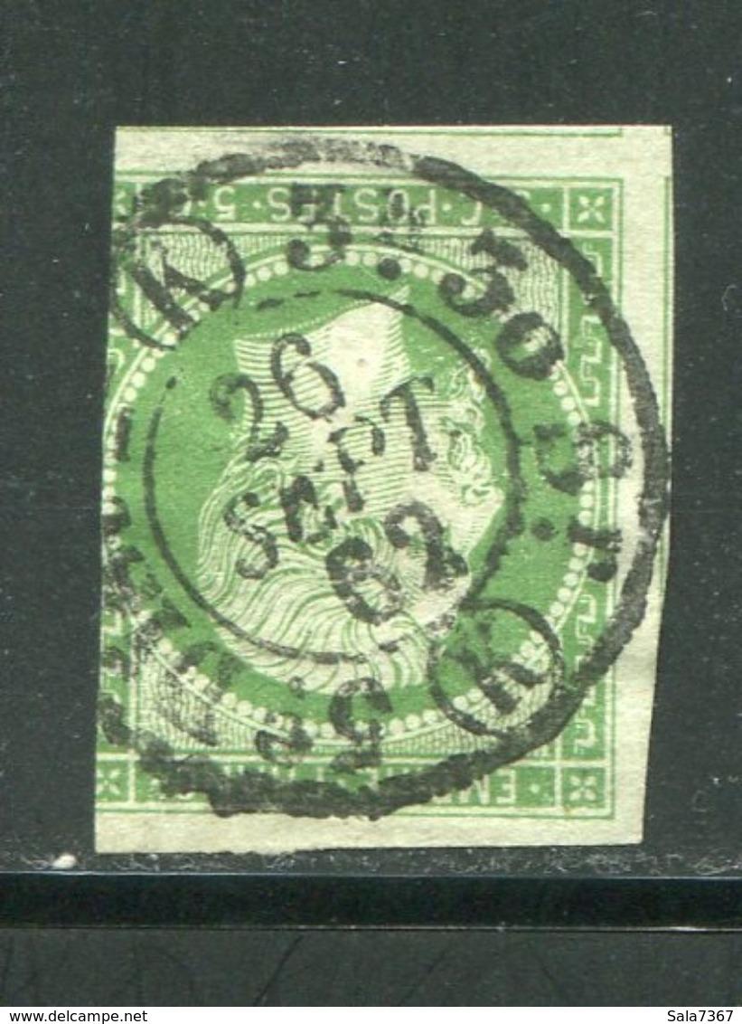 Y&T N°12 Oblitération De Paris Du 26 Septembre 1862 (K) - 1853-1860 Napoleon III