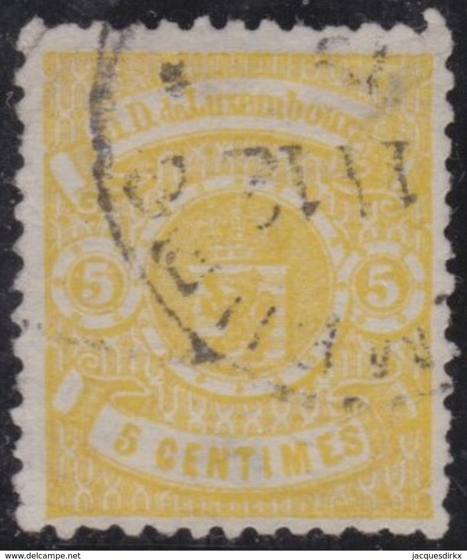 Luxembourg         .     Yvert  .   29       .    O      .      Gebruikt  .     /   .   Cancelled - 1859-1880 Wapenschild