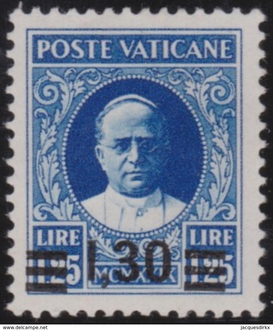 Vatican     .     Yvert  .     61      .     *    .          Ongebruikt   .     /   .    Mint-hinged - Ongebruikt