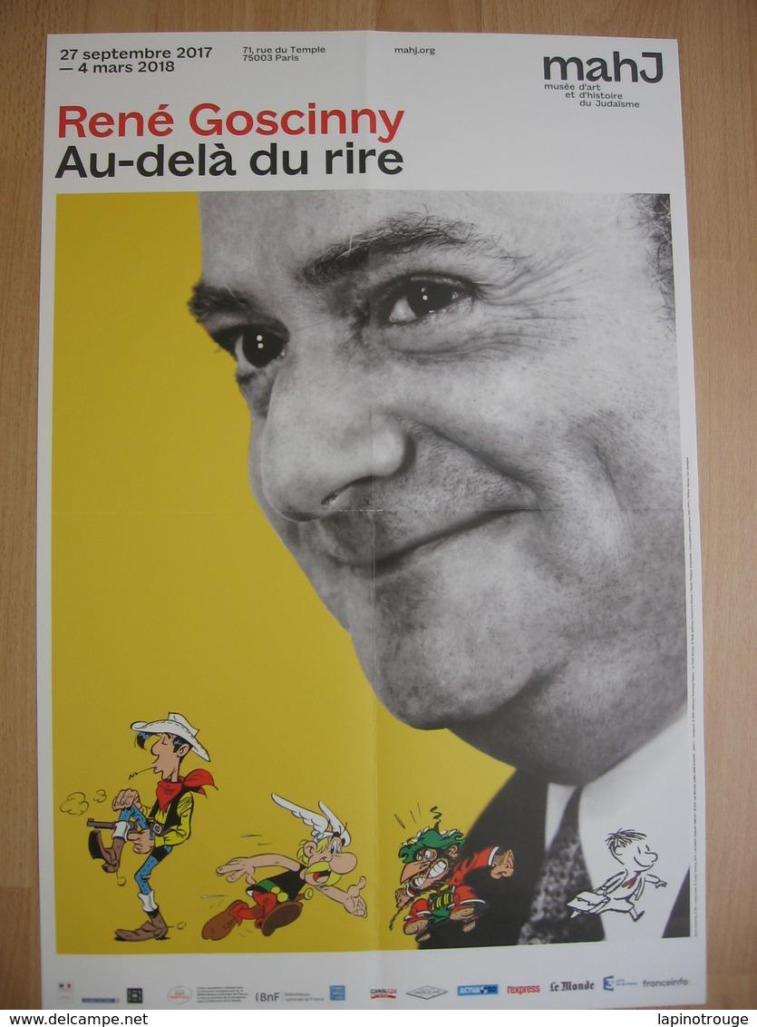 Affiche GOSCINNY René Exposition Majh Paris 2017 (Astérix Lucky Luke Iznogoud...) - Plakate & Offsets
