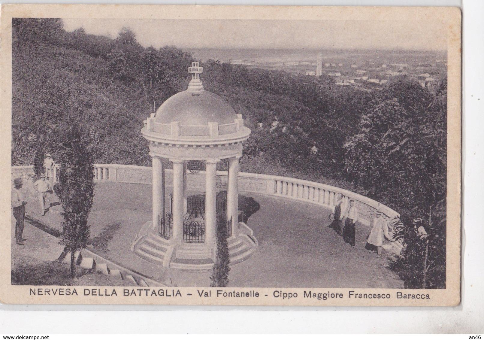 NERVESA DELLA BATTAGLIA - CIPPO MAGGIORE FRANCESCO BARACCA   AUTENTICA 100% - Treviso