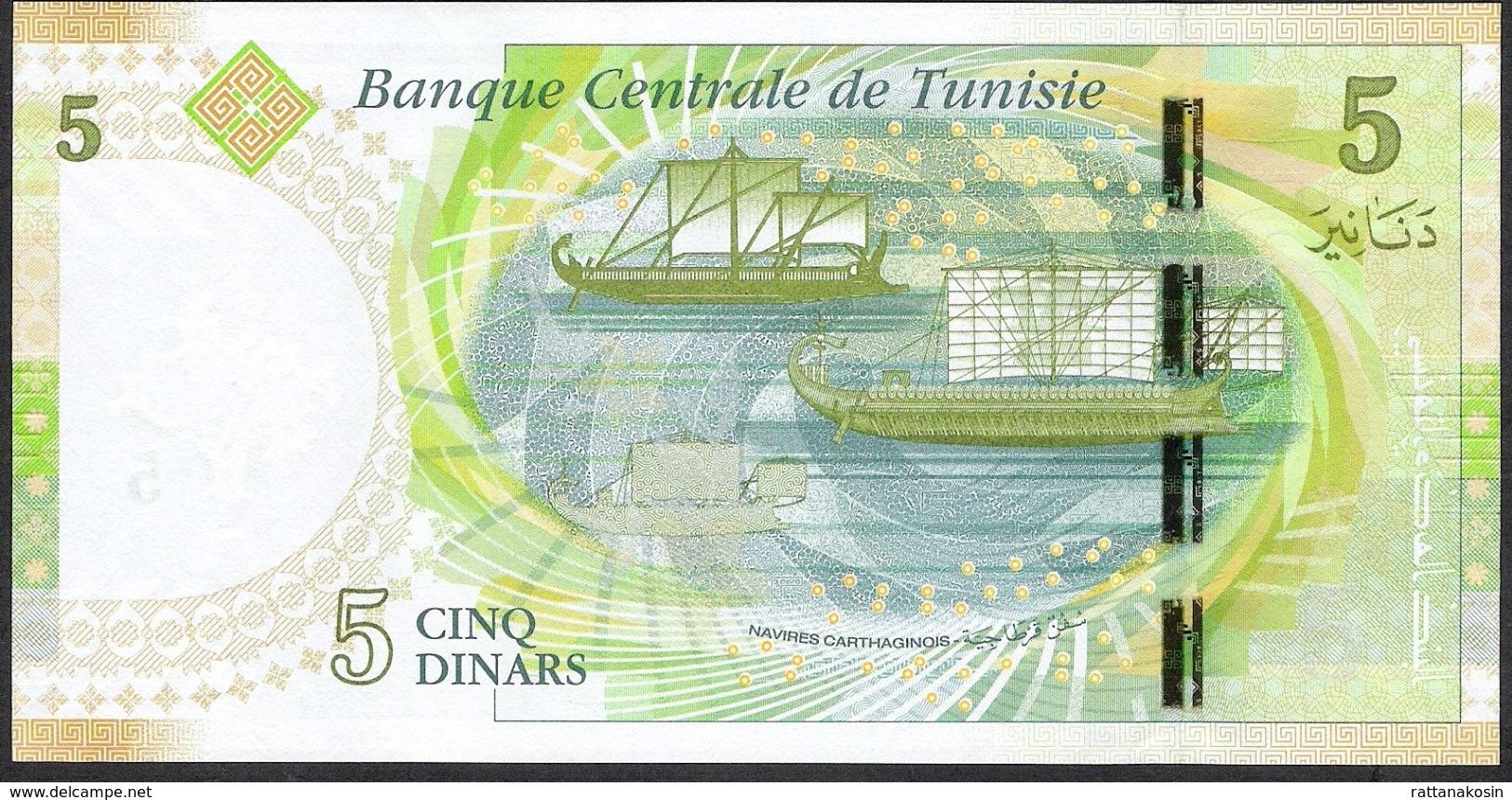 TUNISIA NLP 5 DINARS 2013  UNC. - Tunisia
