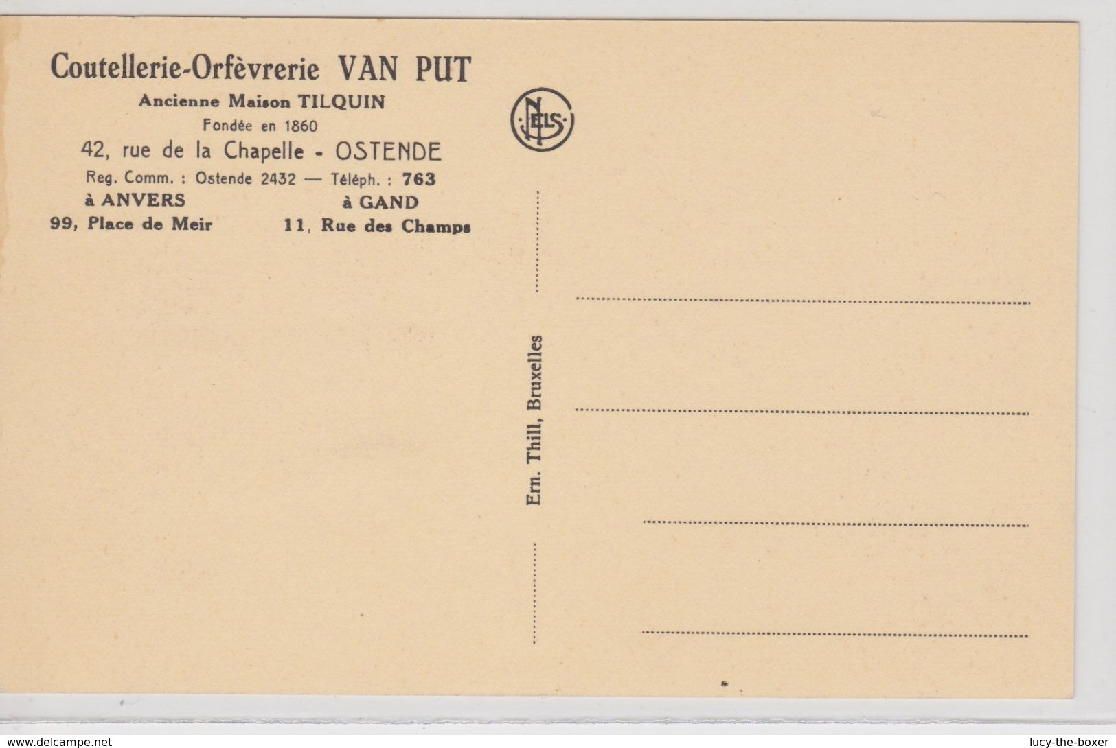 Ostende Coutellerie - Orfèvrerie VAN PUT - Oostende