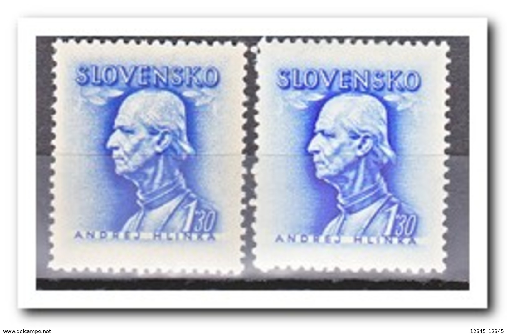 Slowakije 1943, Postfris MNH, Andrej Hinka ( With And Without Watermark ) - Slovakia