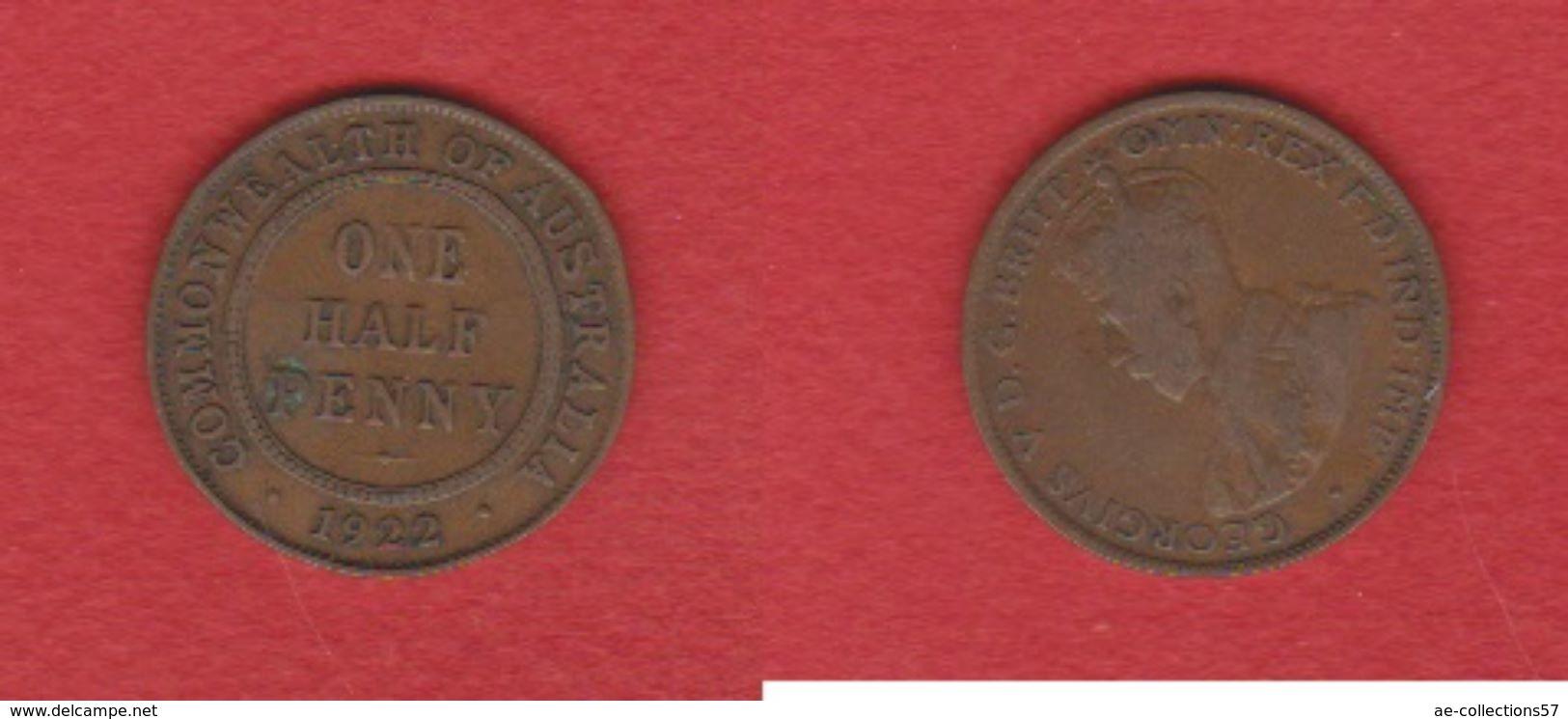 Australie /  1/2 Penny  1922 / KM 22 / TB+ - Monnaie Pré-décimale (1910-1965)