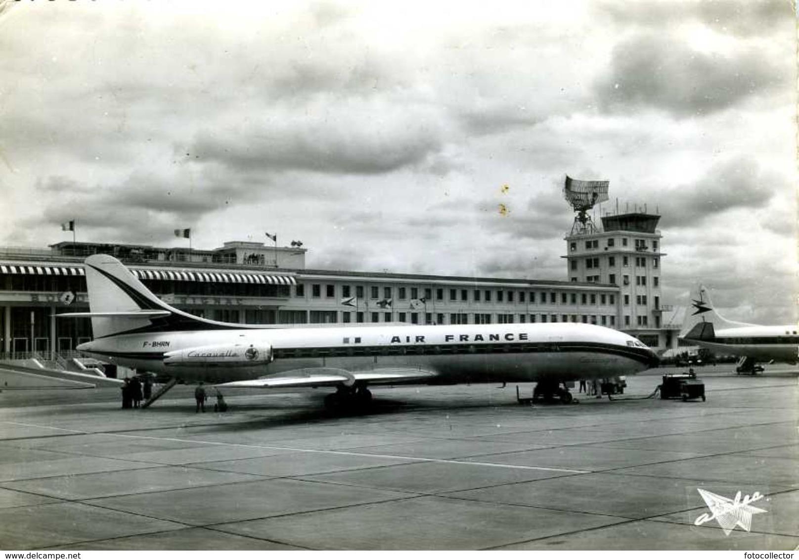Aéroport Bordeaux Mérignac (33) : Avion Caravelle D'Air France - Merignac