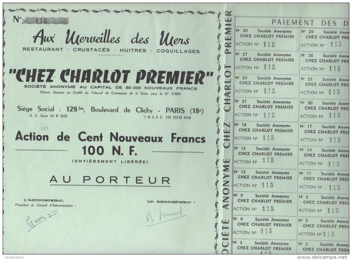 75-CHARLOT PREMIER.CHEZ. AUX MERVEILLES DES MERS. Bd De Clichy PARIS - Other