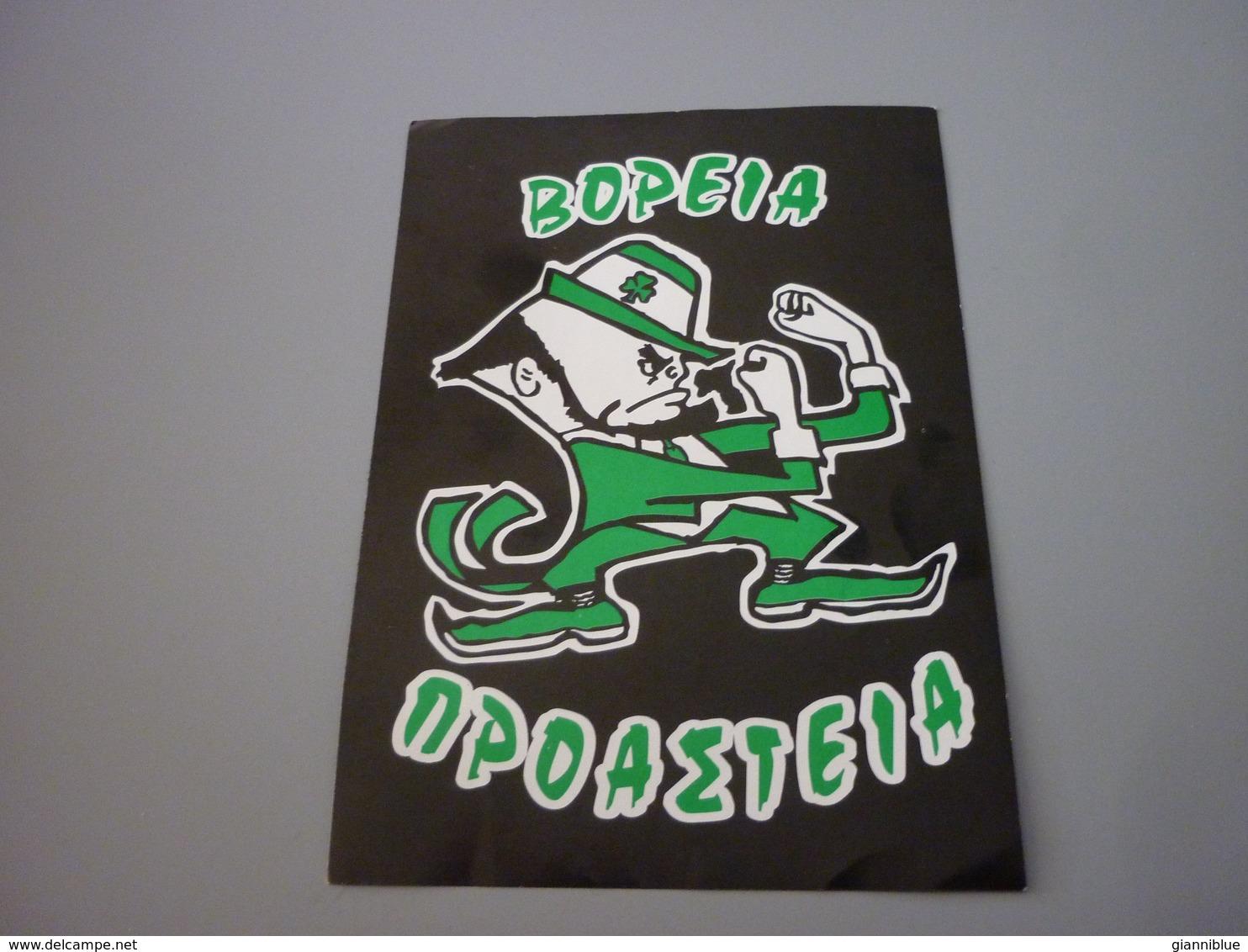 Panathinaikos Gate 13 Ultras Voreia Proasteia North Suburbs Fan Club Sticker Autocollant (Fighting Irish Theme) - Stickers
