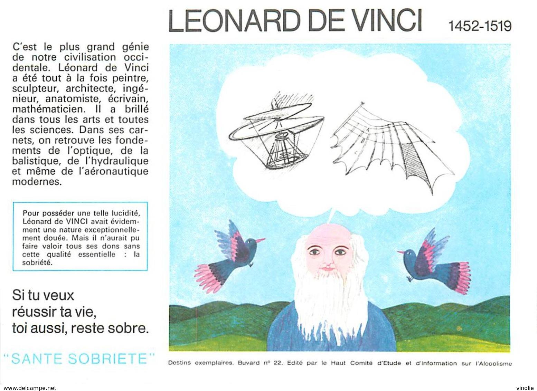 VP-GF.18-74 : BUVARD.  AVIATION. INVENTION.  LEONARD DE VINCI - Buvards, Protège-cahiers Illustrés