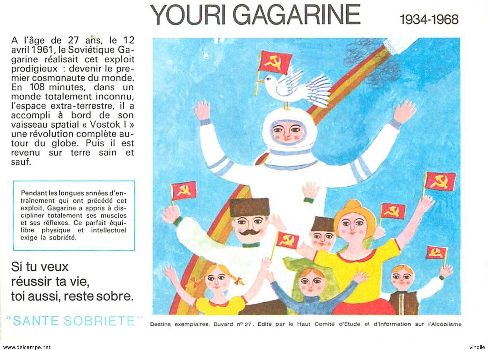 VP-GF.18-80 : BUVARD.  ASTRONAUTE YOURI GAGARINE - Buvards, Protège-cahiers Illustrés