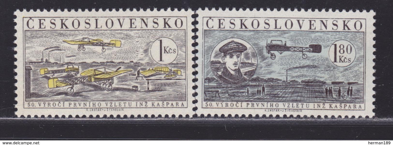 TCHECOSLOVAQUIE AERIENS N°   47 & 48 ** MNH Neufs Sans Charnière, TB (D5268) Avions, Blériot - Corréo Aéreo